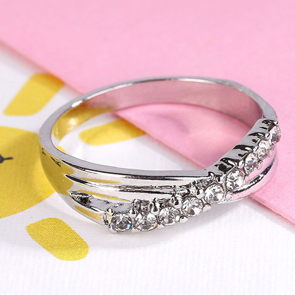 Light Blue Cross Ring Fashion White & Black Gold Filled Jewelry ...
