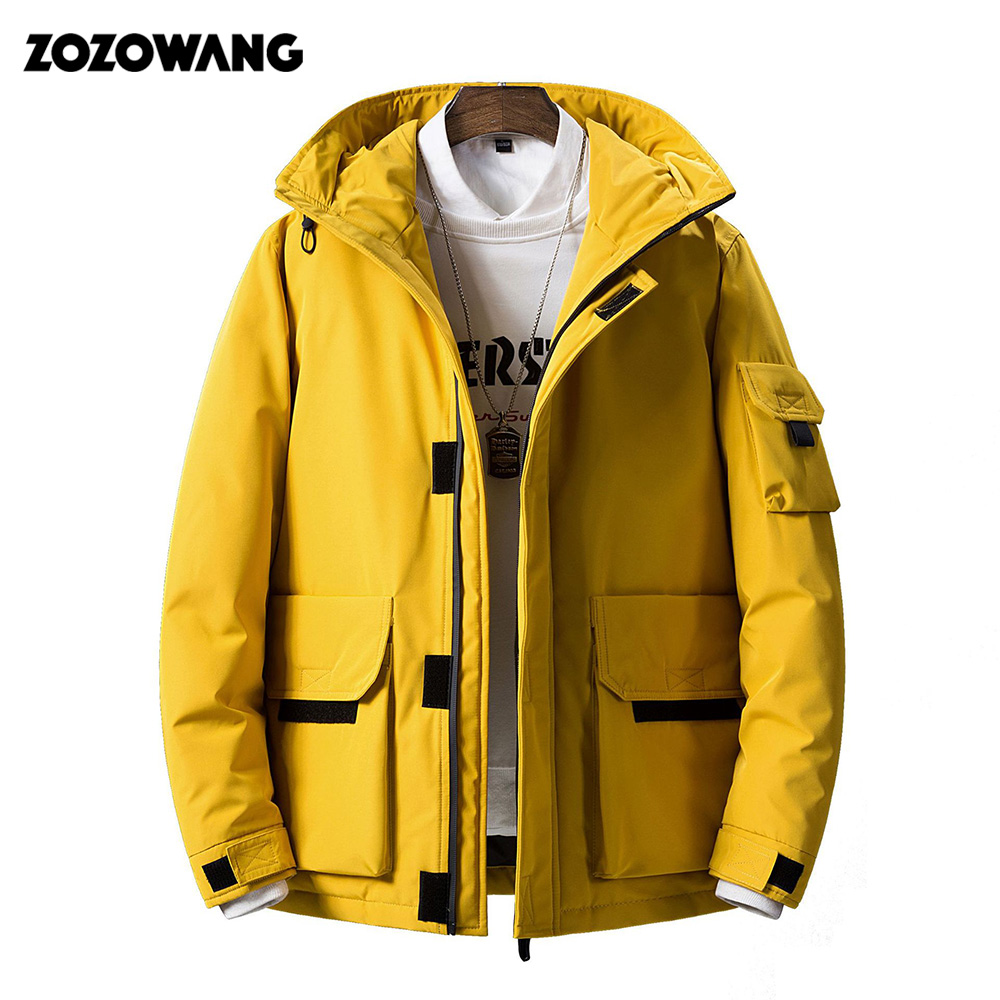 High Quality Men Hooded Jacket And Coat Autumn Casual Leather Sleeve Slim Outerwear Coat Men Zipper