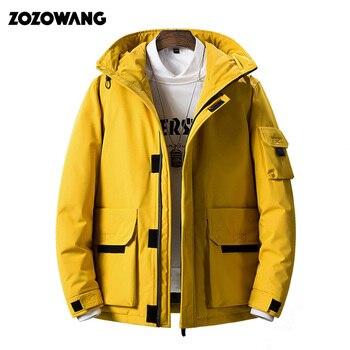 -40 degrés résistant au froid russie hiver veste hommes top qualité véritable fourrure col épais chaud blanc canard vers le bas hommes hiver manteau