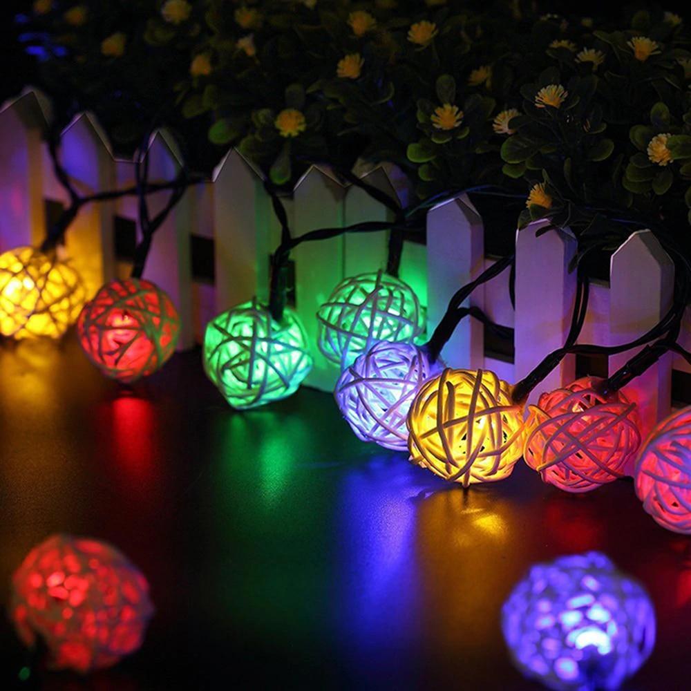 5m 20LED Decoration String Lights 220V//110V Wedding Party Xmas Mix-Color Lamps