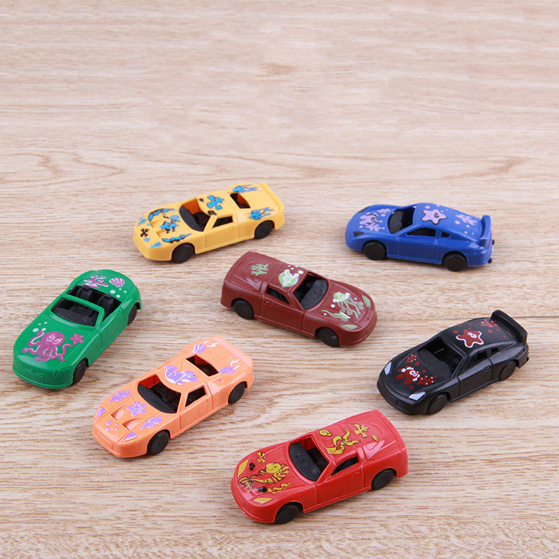 5Pcs/set Kawaii Mini Car Toy Plastic Colorful Q Version Gliding Mini Toys for Children Boy Kids Birthday Gifts