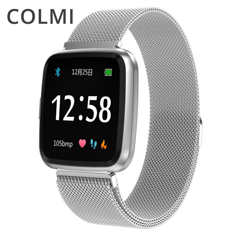 Colme táctil completa reloj inteligente CY7P cardíaca sangre oxígeno Monitor de presión impermeable de múltiples deportes de tiempo de espera para hombres y mujeres