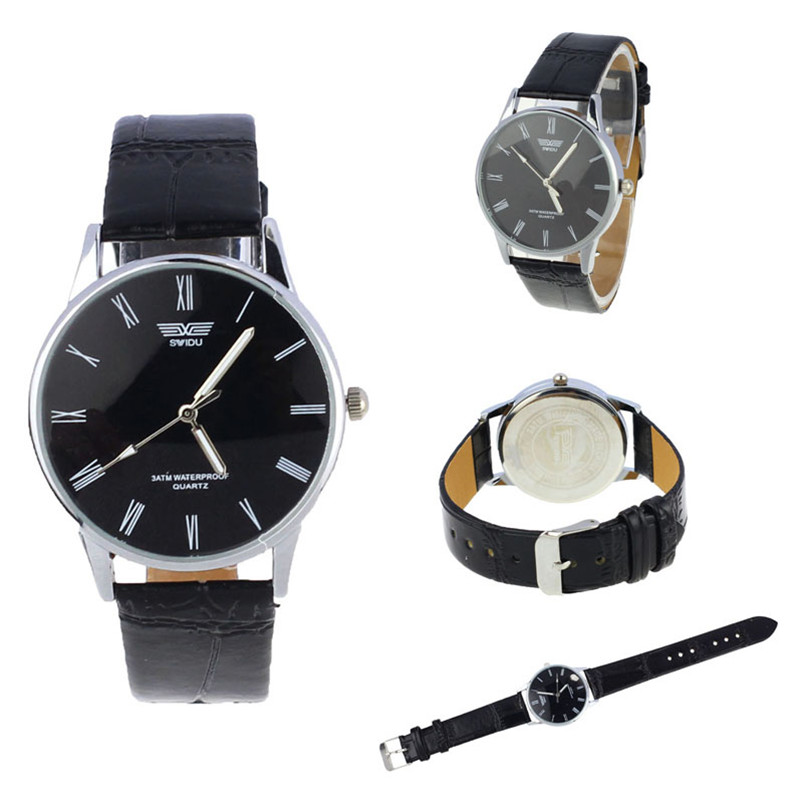 2017 Niedrigen Preis Hohe Qualität Männer Luxus Männer Römische Zahl Quarz Elektronische Leder Armbanduhr Feida Heißer Verkauf