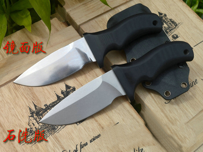 Trskt Survival Hunting Knives Mirror / Stone wash Blade A2 Steel 60Hrc G10 Handle With Kydex Sheath Outdoor Knife Camping Tool цена