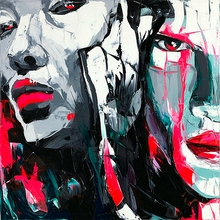 High Quality Abstract oil painting Printed Nielly Francoise Artwork  Painting Modern Decoration Canvas Customized