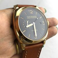 PARNIS 47MM watch seagull automatic movement GMT pointer can work stainless steel case luminous hand 54 1