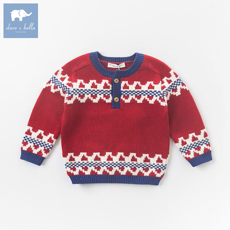 DB5898 dave bella autumn baby boys Christmas red cotton pullover sweater lovely clothes toddler children knitted SweaterDB5898 dave bella autumn baby boys Christmas red cotton pullover sweater lovely clothes toddler children knitted Sweater
