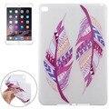 Marca nuevo patrón de plumas de colores soft tpu protector case para ipad air 2 alta calidad