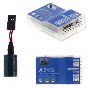 Image 1 - 3 Axis Gyro A3 V2 Aeroplane Flight Controller Stabilizer for RC Airplane Fixed wing Copter