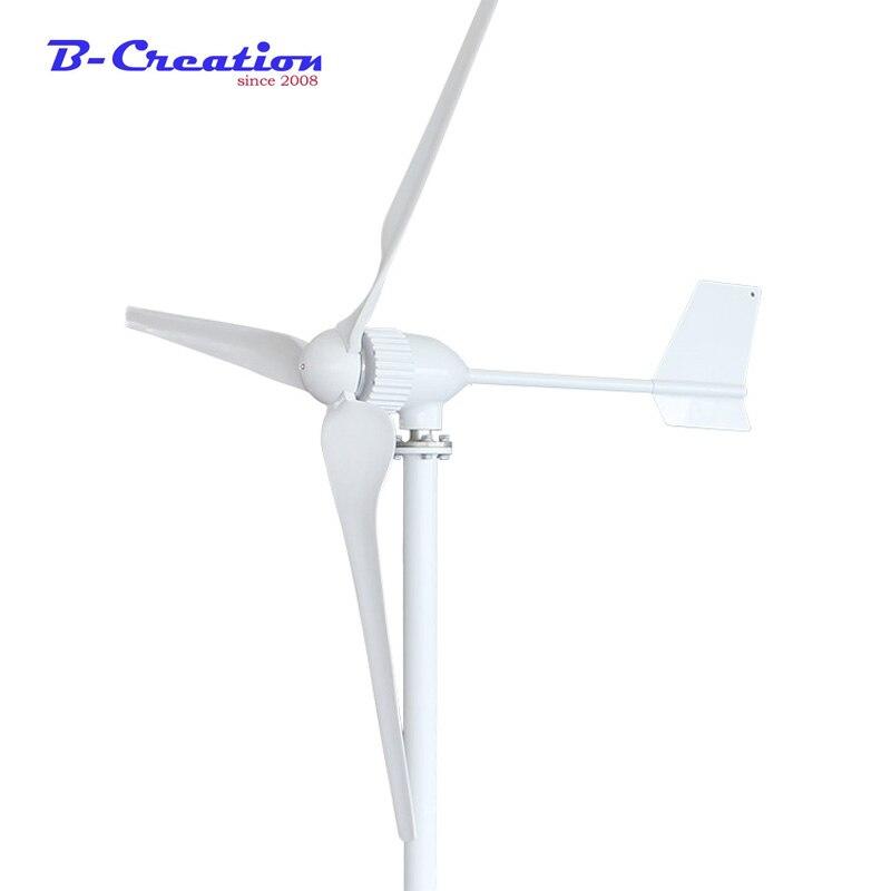 1000 w 1KW Vent générateur de turbine Trois Lames, 24 V/48 V En Option Vent Générateur avec 1000 Wwind contrôleur ou Contrôleur Hybride