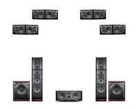 HiVi Лебеди M806A Колонка для домашнего кинотеатра 7,2 channel основные M806A центр M808A C объемный M808A R бас Sub 10/15 м