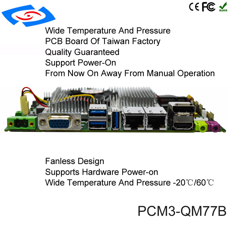 Industrial Dual Core Mini ITX Motherboard For Digital Signage Living Room PC Based On Intel QM77 i5-2430M Mainboard