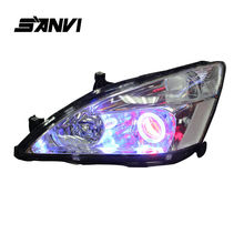 купить SANVI Bi-Xenon Headlights For Honda Accord with Hi-Low Beam Projector Lens Angel Eyes Ballasts & Bulbs HID Autoparts Car Styling по цене 34389.27 рублей