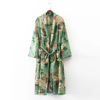 Floral Prints Ethnic Beach Kimono Women Shirts 2017 New Autumn Vintage Loose Casual Cardigan Shirts Women Blouses blusa feminina