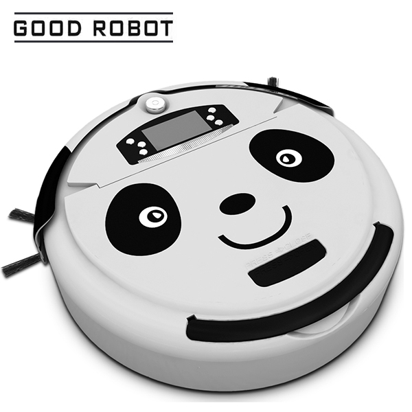 2017 New Panda Design Robot Vacuum Cleaner Automatic Rechargeable 2500mAh Battery Powerful Vacuum Cleaning Machine Sweeping Tool original oem cleaning robot automatic sweeping 2 sidebrush rotating soft brush 400series vacuum cleaning robot parts accessories