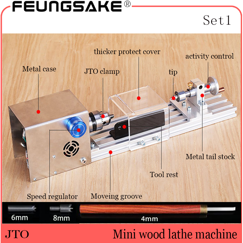 DIY Wood Lathe Mini Lathe Machine Polisher Table Saw For Polishing Cutting,metal Mini Lathe/didactical DIY Lathe Big Power
