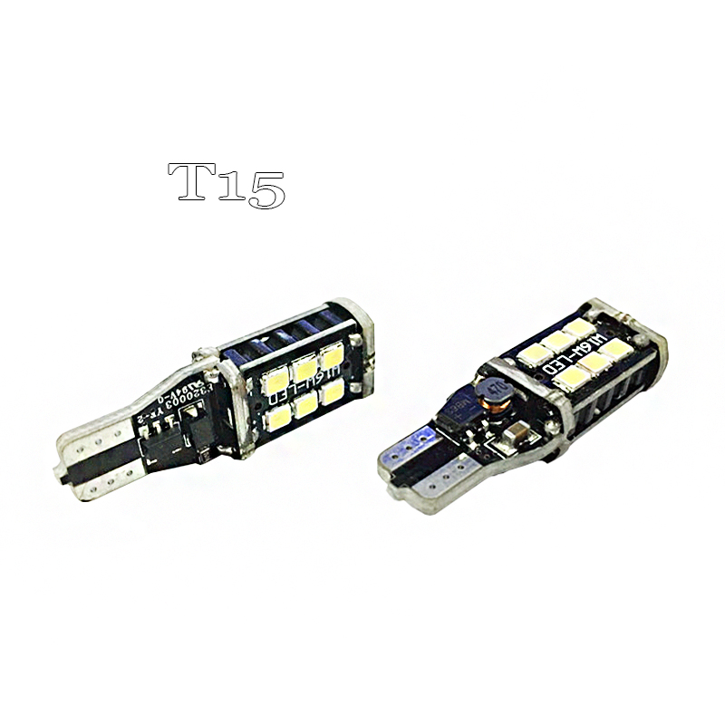 2pcs YLR led W16W LED CANBUS T15 15led 3014smd Chip LED