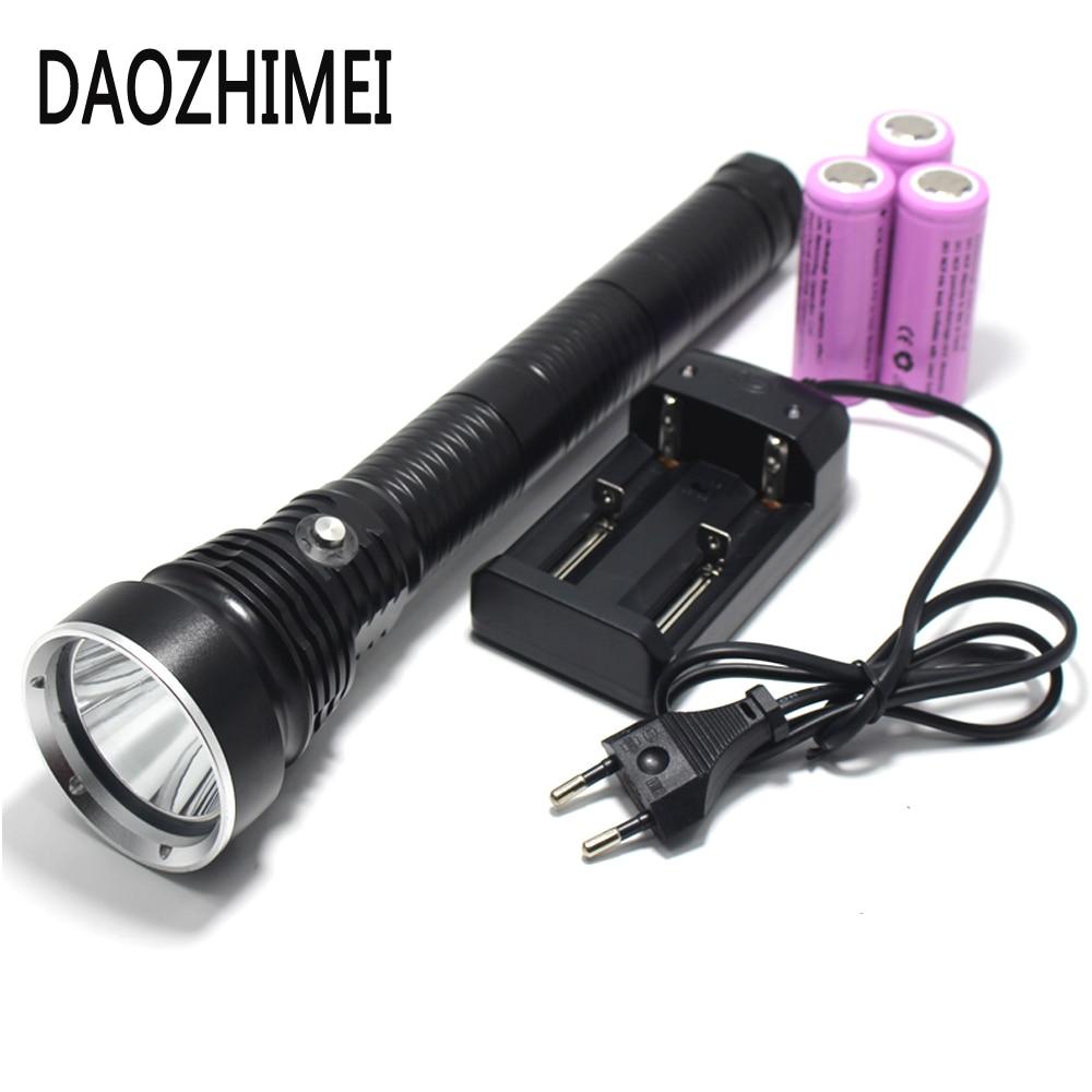 5000 lumen LED dive light XM L L2 diving flashlight 26650 torch underwater tactical hunting fishing