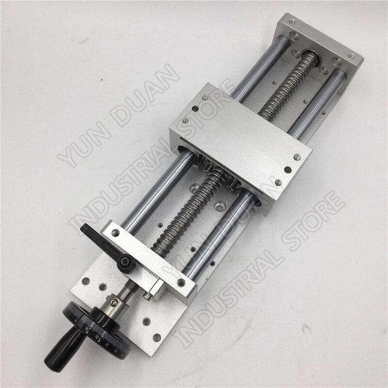 Sliding Table 600MM 23.6 Stroke Manual hand wheel Linear module Slide Linear Stage SFU1605 Ball screw C7 Displacement platform