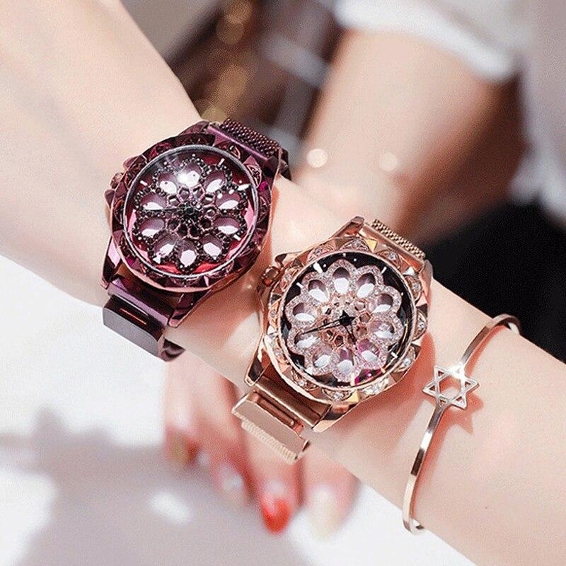 2019 Newest Brand Watch Quartz Ladies Gold Bracelet Watches Diamond Stainless Steel Women Wristwatch Girls Female Dress Clock diamond stylish watches for girls