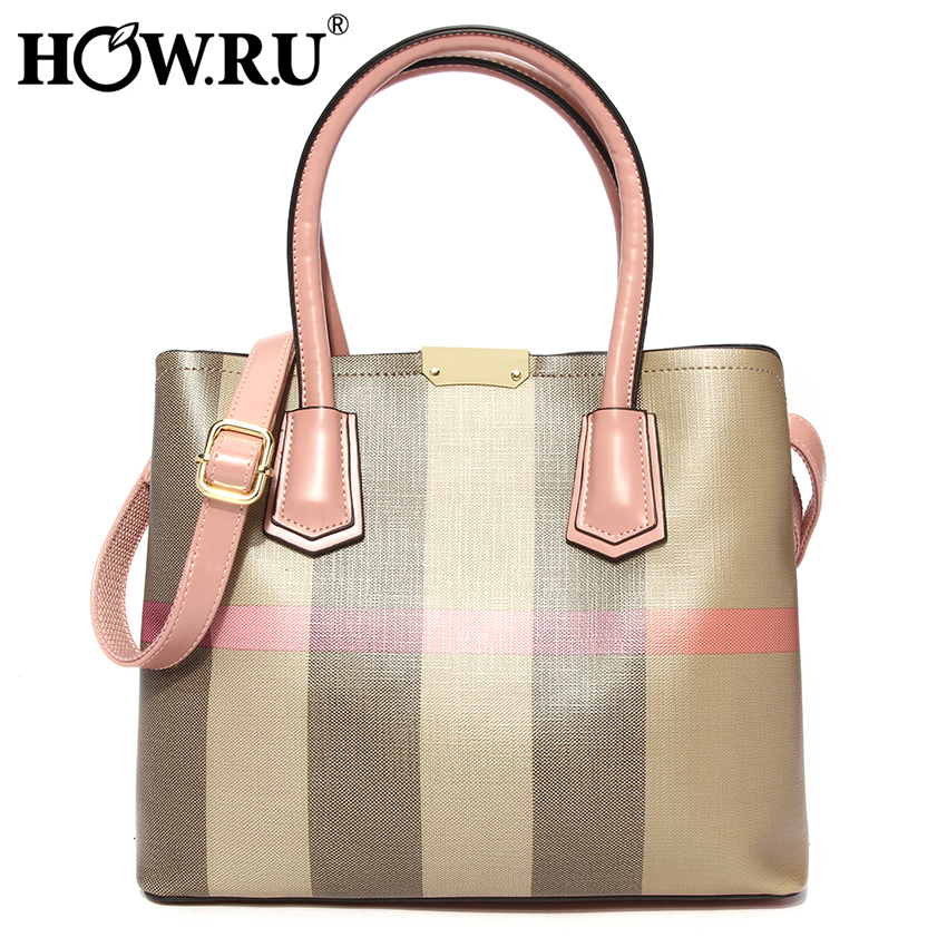 HOWRU Brand Women Leather Handbags Bags for Women European and American Style 2019 Woman Tote Bag