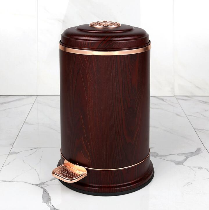 Luxurious European10L Stainless steel metal trash bins kitchen ...