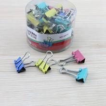 Paper Clip 40Pcs 19mm Foldback Binding Supplies Mini Colorful Binder Clips Metal Office Stationery Random Color Document Clips цена в Москве и Питере
