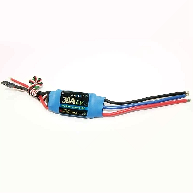 Flycolor 30A RC aircraft brushless ESC 2-4S BEC hobby model part accessories electronic speed control 2016 flycolor 90a brushless waterproof alu alloy electronic speed control esc with 5 5v 5a bec for rc boat aircraft free ship