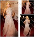 Um Ombro Vestido Formal em 2011 Golden Globe Awards After Party Paris Hilton Celebrity Dresses