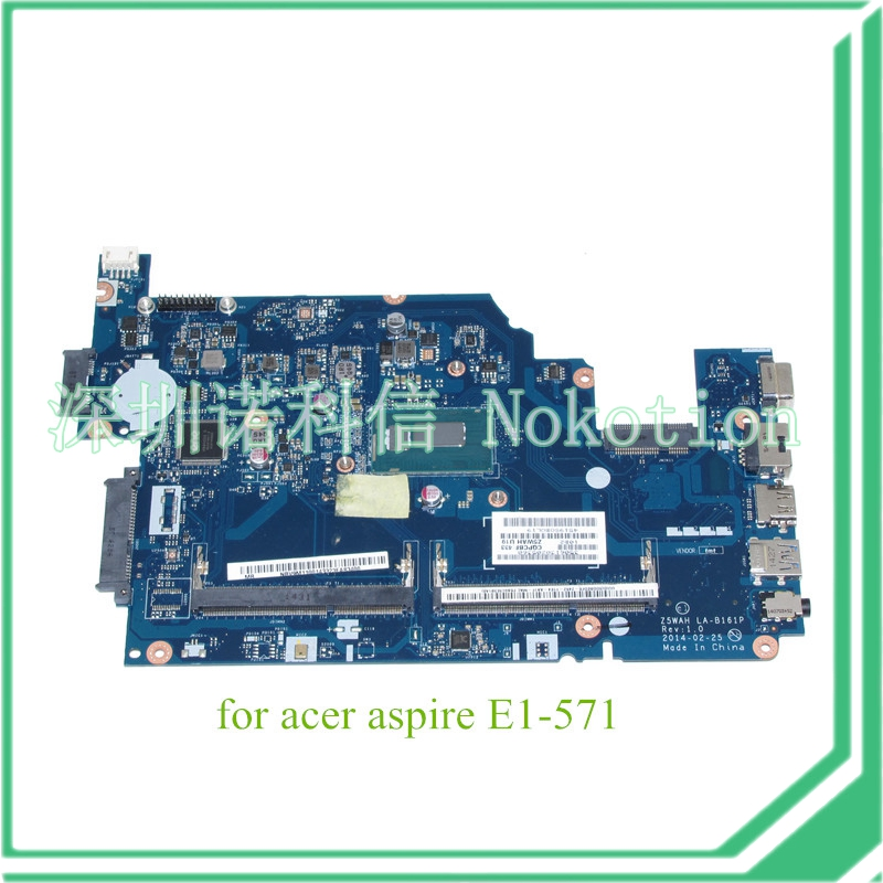 Z5WAH LA-B161P REV 1.0 NBV9M11001 NB.V9M11.001 For acer aspire E1-571 Motherboard TravelMate P256 I3-4005