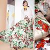 140cm Wide Bamboo And Crane Digital Inkjet Printed Silk Organza Satin Fabric Free Shipping Cloth OGD1628