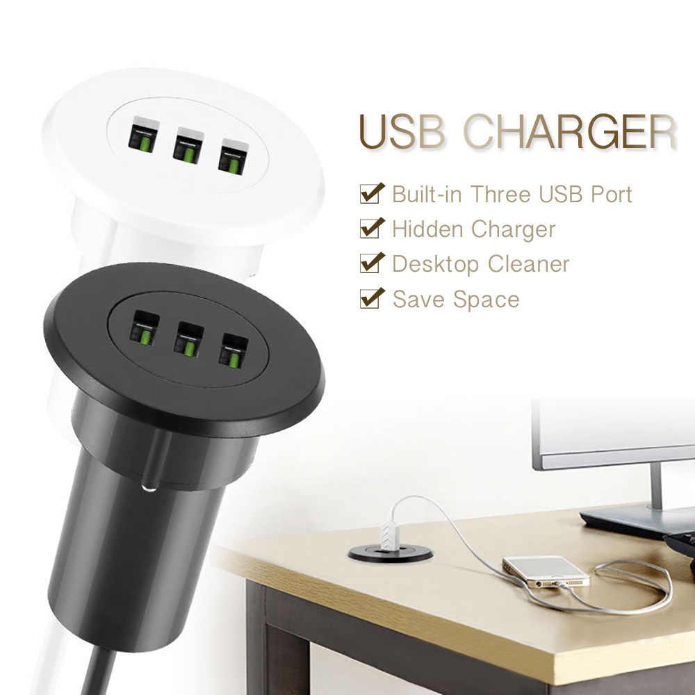 Powstro 3 Port Ladegerät USB 5V 3.1A Desktop Loch Tülle Ladegerät Intelligente Lade Station Mit EU Stecker für Samsung für iPhone