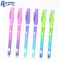 3 Pcs/ Set Cute Star Moon Erasable Pen Handle 0.38mm Blue/Black Ink Gel Pen Rod for School Office Supplies Tool Stationery