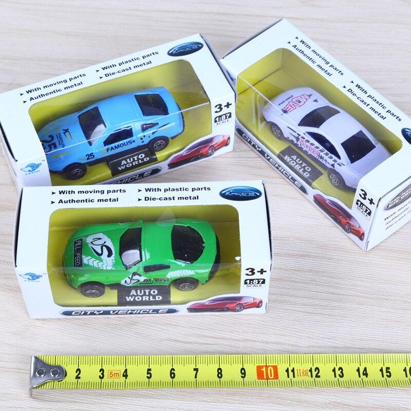 2018 Nuevo 1 unids Modelo Q Mini Coche de Aleación de Bolsillo - Vehículos de juguete para niños - foto 3