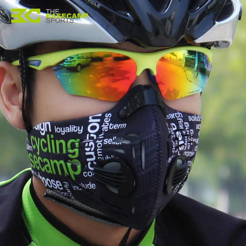 をベースキャンプエアガンマスクスポーツ口フェイスマスク自転車サイクリングハーフフェイスマスク Mtb バイクサイクリングフェイスマスク抗汚染人工呼吸器
