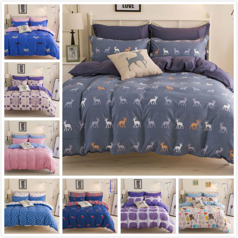 2018 New Style Fashion Bedding Sets Full King Queen Twin Double Size Bed Sheet 1.5m 1.8m 2m 2.2m Duvet Cover Pillowcase Bedlinen
