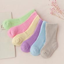 6pairs/lot Spring Baby Bamboo Fiber Loose Socks Breathable Newborn Baby Socks Autumn Toddler Soft Home Socks Small Kids Clothing