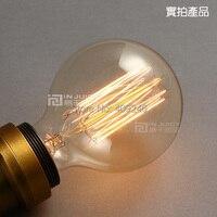 RH Loft Industrial American industrial special lamps lanterns Edison light bulb G95 E27 40W halogen Bulb