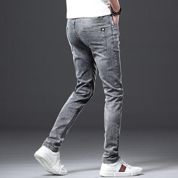 Jantour Skinny Jeans men Slim Fit Denim Joggers Stretch Male Jean Pencil Pants Blue Men's jeans fashion Casual Hombre new 4