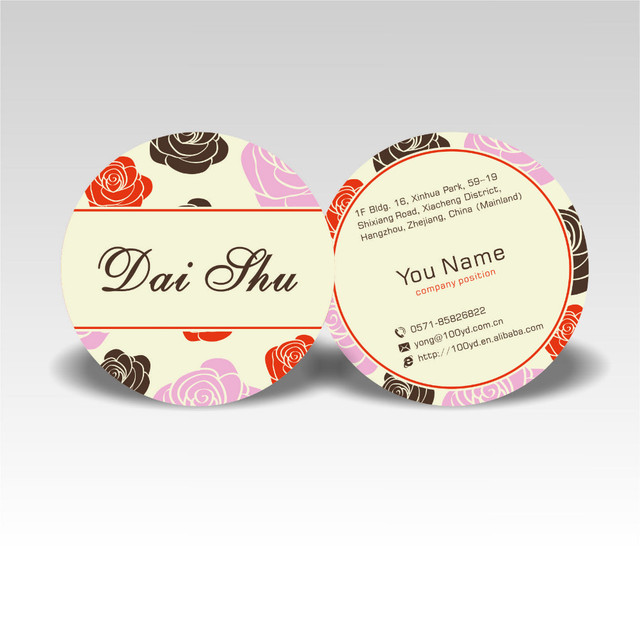 Fashion designer customized round business cards color printing fashion designer customized round business cards color printing 350gsm art paper die cut name card professional colourmoves