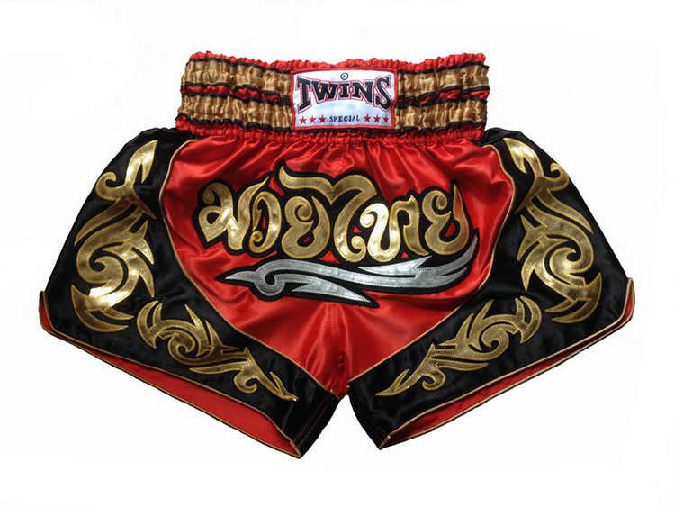 2016 YENI Ücretsiz Kargo Mücadele Şort Muay Thai Şort Boks Pantolon erkek Spor Giyim Boxeo Ücretsiz Savaş Pantolon Altın alev