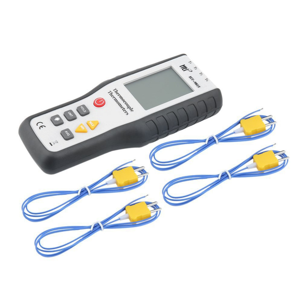 HT 9815 Real Industrial LCD Digital K Type Thermocouple Thermodetector 1372 Degree Centigrade Thermocouple Probe