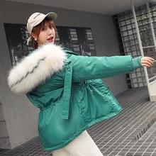 Brieuces Women Winter Short Jacket Mujer Hooded Parkas Winter Coat Women Loose Parka Fur Collar down Cotton Padded Jackets цены онлайн