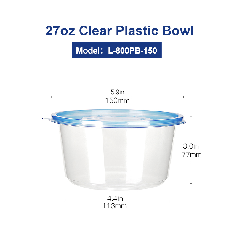 PLASTIC ROUND CONTAINERS TUBS WITH LIDS CLEAR MICROWAVE SAFE FOR FOOD TAKEAWAY