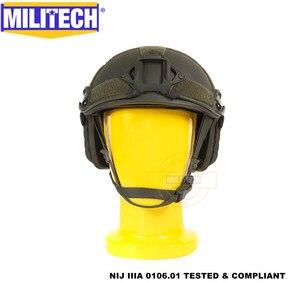 Image 2 - MILITECH Oliver Drab OD Deluxe Super High Cut Maritime NIJ level IIIA Bulletproof FAST Aramid Bullet Proof Ballistic Helmet CAG