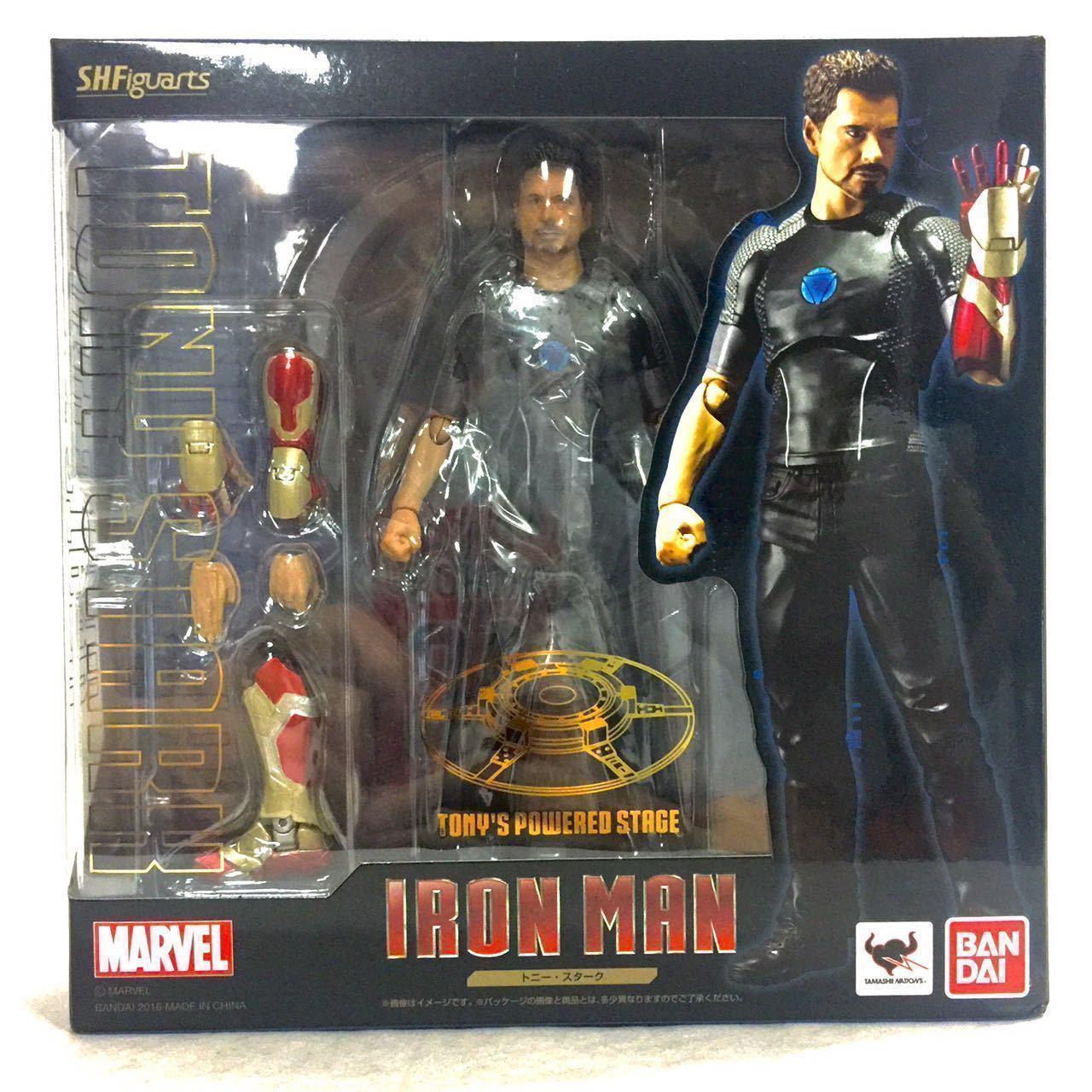 S.H.Figuarts Marvel IRON MAN 3 TONY STARK Action Figure Mk42 TONYS POWERED STAGE Anime Figure Collectible Model Toy