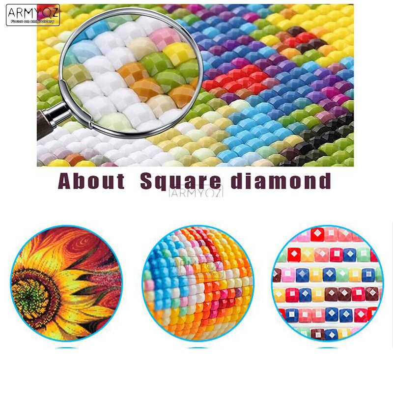 """ARMYQZ praça Cheia/5D DIY pintura diamante diamante redondo """"duende dos desenhos animados menina"""" 5D 3D bordado ponto cruz decoração para casa de presente"""