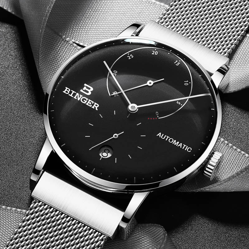 Switzerland BINGER Top Mens Watches Top Brand Luxury Automatic Mechanical Watch Men Full Steel Business Waterproof Fashion Sport|Mechanical Watches| |  - title=
