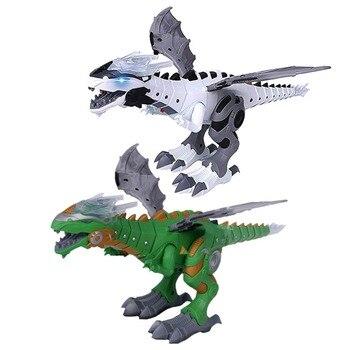 Elétrica Spray de Brinquedo Tamanho Grande Caminhada Dinossauro Robô Com Luz e Som Mecânico Modelo Brinquedos de Dinossauros Para Crianças dos miúdos