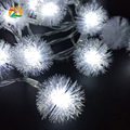 40LED 4M Battery LED String Snowball Pompon Lover's Day Light Wedding Parties Decoration String Lights Holiday Decor. Supplies